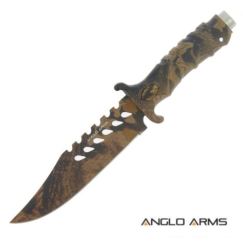 10 inch Knife with Camo Rubber Handle and All Camo Blade (742)
