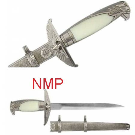 A Collectors German Nazi Officer Dagger Silver ( 1080 )