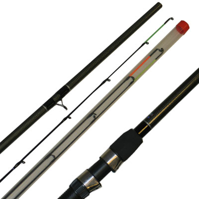 10FT, 'CARBON COLOUR' FEEDER ROD (LDFS-1002+3) (Fibre Glass) (extra £10.00 of price when collected from store)