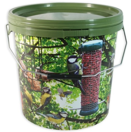 15 Litre 'Bird - Bait' Camo Bucket with Metal Handle