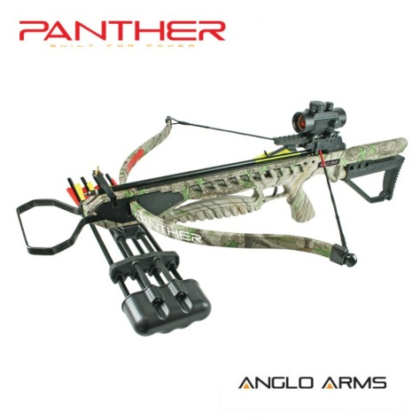 175lb Draw Anglo Arms Camo PANTHER Recurve Crossbow Kit with Accessories