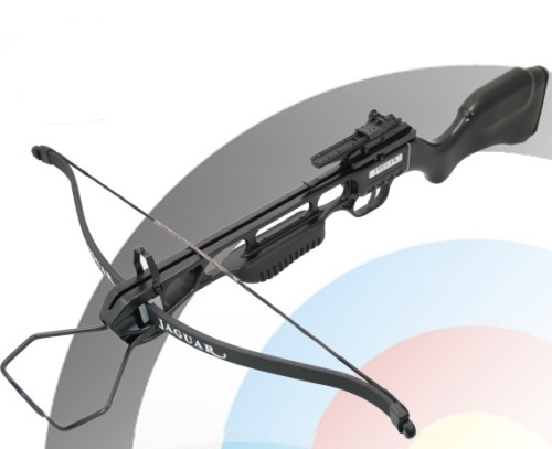 150lb Draw Anglo Arms JAGUAR Black Standard Recurve Crossbow (CB 150 BLK STD)