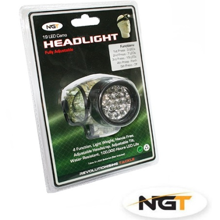 19 LEDS Multi-Function Headlight in Camo
