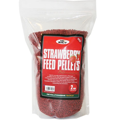1kg bag of NGT Strawberry Feed Pellets 2mm