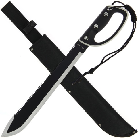 22.00 inch Jungle Machete with Saw and Sheath (122)