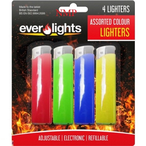 REFILLABLE ELECTRIC LIGHTER 4 PACK