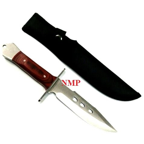 "10.5"" Pakka wood Handle Hunting Knife With Case (K-BS013881-RED)"