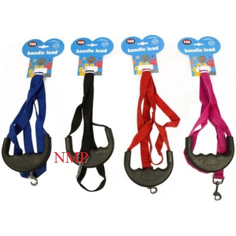 SOFT RUBBER HANDLE COMFORT HANDLE DOG LEAD 4 COLOURS - (LENGH 120CM X 2CM WIDTH)