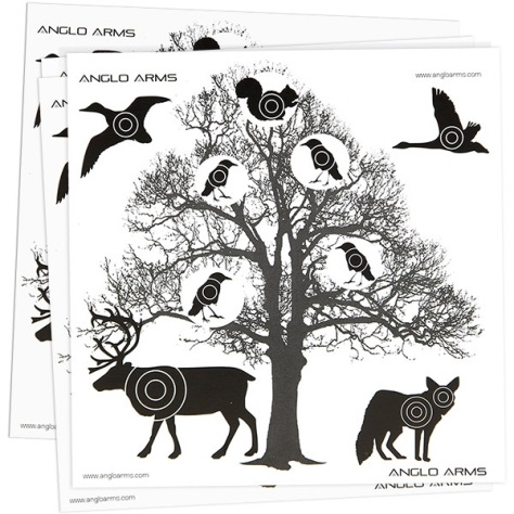 Anglo Arms (Tree) AIR GUN TARGETS Pack of 50 Card Targets ( 14cm )