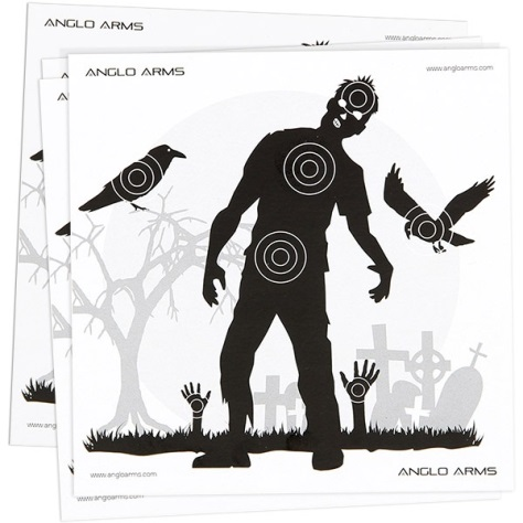 Anglo Arms (Zombie) AIR GUN TARGETS Pack of 50 Card Targets ( 14cm ) x 10 packs