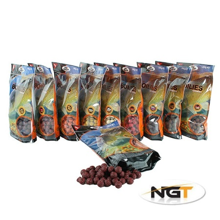 15mm NGT Boilies 500g bag of Spicy Tuna & Shrimp