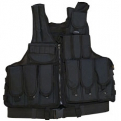 Black Tactical Combat Vest large 5020