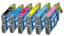 Epson T5591 ,T5592,T5593, T5594, T5595,T5596, Compatible Printer Ink Cartridge's 1 Full Set