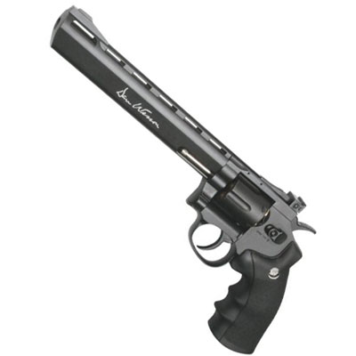"ASG Dan Wesson 8"" Barrel grayish Black Licensed 8"" Revolver 12g CO2 Air Pistol Fires 4.5 mm BB'S ASGP16183 ( 6 shot BB )"