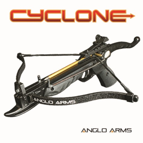 80lb 'CYCLONE' Anglo Arms Self Cocking Pistol Crossbow ( Aluminium ) Black