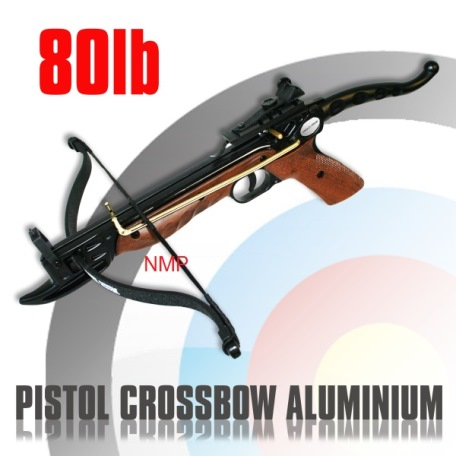 80lb 'CYCLONE' Anglo Arms Self Cocking Pistol Crossbow ( Aluminium ) Brown