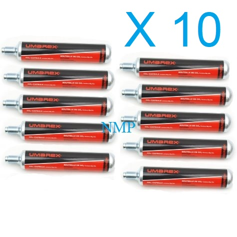 UMAREX 88 gram Air Gun 88g Co2 Cartridges x 10