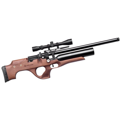 Kral Puncher Knight PCP Air Rifle Turkish walnut stock .22 Calibre 12 shot free hard case