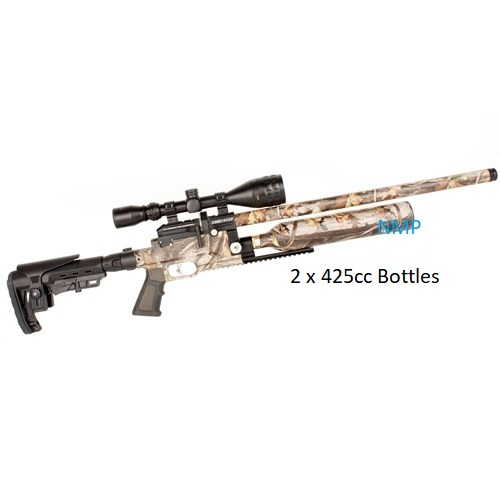 Kral Puncher Jumbo Hi-Cap Camo .177 Calibre PCP Air Rifle 14 shot 2 x 425cc bottles and free hard case