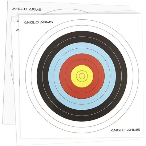 Archery - Crossbow Targets Quality (280gr) 42cm x 42cm Pack of 50 Anglo Arms
