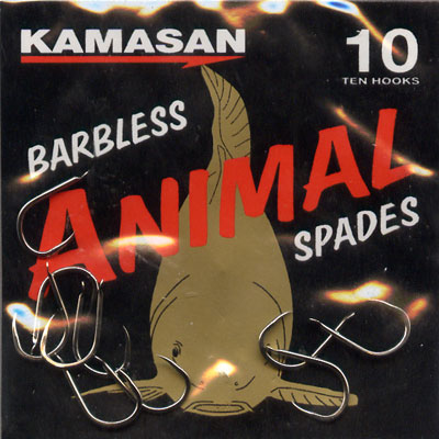 Kamasan Animal Barbless Spade End Hooks Size 10