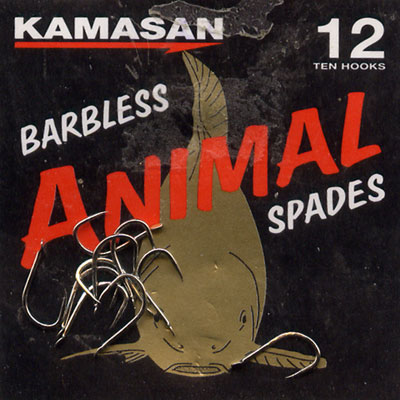 Kamasan Animal Barbless Spade End Hooks Size 12