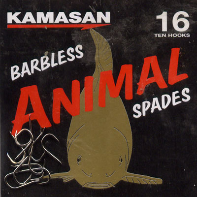 Kamasan Animal Barbless Spade End Hooks Size 16