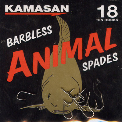 Kamasan Animal Barbless Spade End Hooks Size 18