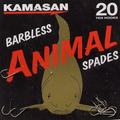 Kamasan Animal Barbless Spade End Hooks Size 20