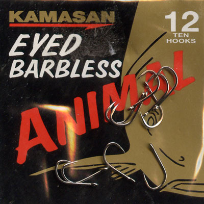 Kamasan Animal Eyed Barbless Hook Size 12