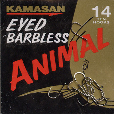 Kamasan Animal Eyed Barbless Hook Size 14
