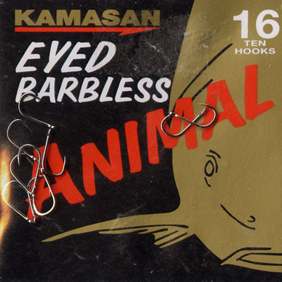 Kamasan Animal Eyed Barbless Hook Size 16