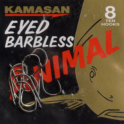 Kamasan Animal Eyed Barbless Hook Size   8
