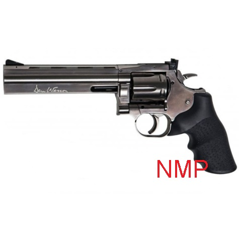 "ASG .177 (4.5mm) Pellet 12g Co2 Revolver 6"" Rifled Barrel Air Pistol - Grey Steel Dan Wesson 715 (6 shot pellet)"