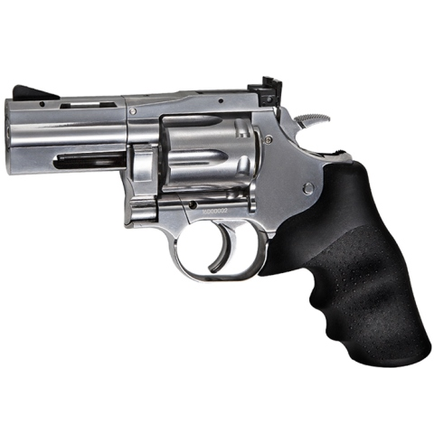 "ASG Dan Wesson 715 .177 (4.5mm) Pellet 12g Co2 Revolver 2.5"" Rifled Barrel Air Pistol Silver (6 shot pellet)"