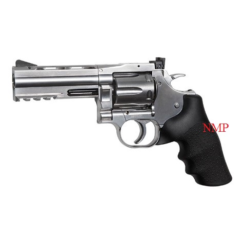 "ASG .177 (4.5mm) Pellet 12g Co2 Revolver 4"" Rifled Barrel Air Pistol - Silver Dan Wesson 715 (6 shot pellet)"