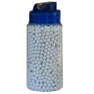 0.12g Polished White Nylon 6mm Airsoft BB's Pellets tub of 2,000