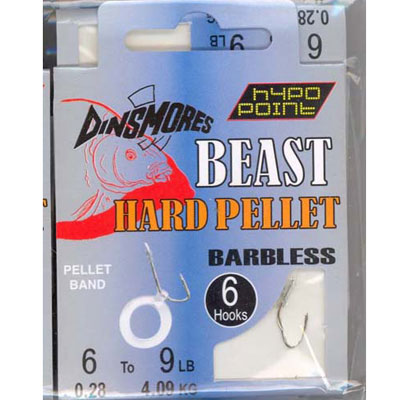 BEAST HARD PELLET SIZE 6 BARBLESS RIG Pack of 6 DINSMORES