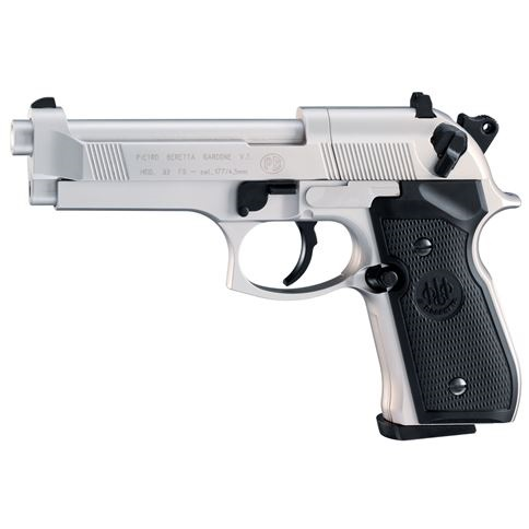 Beretta M92 FS Nickel 12g Co2 Air Pistol .177 calibre pellet 8 shot Umarex