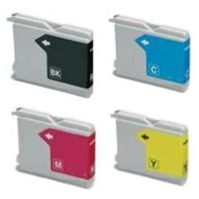 Brother LC51 / LC1000BK ,LC1000C, LC1000M,LC1000Y, Compatible Print Cartridge 1 Full Set
