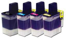 Brother LC900BK ,LC900C, LC900M,LC900Y, Compatible Printer Ink Cartridge 1 FULL SET