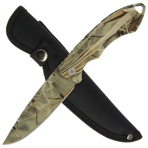 "9.5"" Knife with Camo Handle and All Camo Blade (BS012835CA-2)"