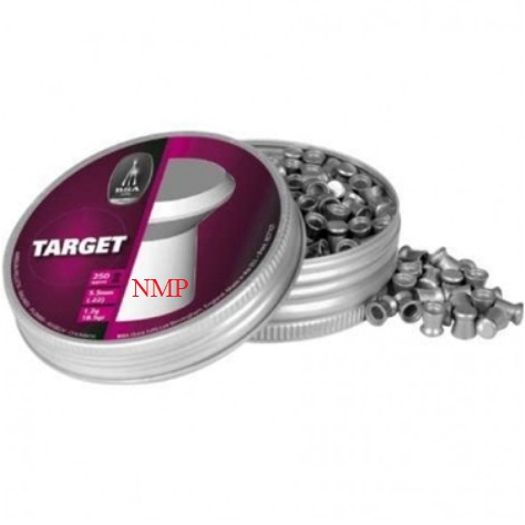 BSA Target Heavy Weight Flat Head Match Pellets - available in .177 Tin of 450 x 5 tins