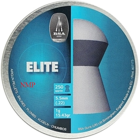 BSA Elite High crowned dome head Air Gun Pellets available in .177 Tin of 500