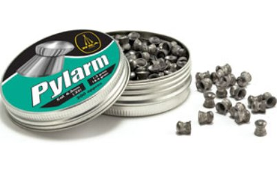 BSA Pylarm Low profile round head magnum available in .25 calibre 18.82 grain air gun pellets Tin of 200