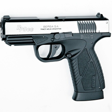 ASG 12g C02 4.5mm Air Pistol - Bersa BP9CC Dual Tone Blowback 12gram CO2 operation (20 Shot bb)