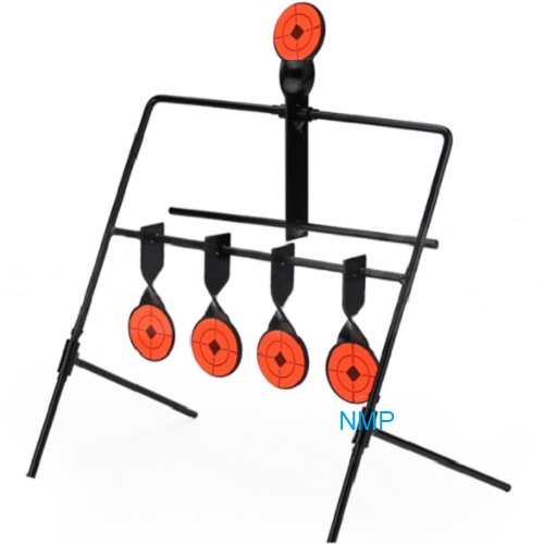 5 Shooting Gallery Swinging Target Spinning Auto Reset Set