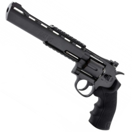 "Black Ops 8"" Barrel Black 12g CO2 AIR PISTOL Fires 4.5 mm BB'S (BO8BLK4.5) ( 6 shot BB )"