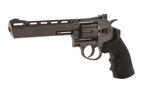 "Black Ops 6"" Barrel Black 12g CO2 AIR PISTOL Fires 4.5 mm BB'S (BO6BLK4.5) ( 6 shot BB )"