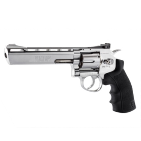 "Black Ops 6"" Barrel Silver 12g CO2 AIR PISTOL Fires 4.5 mm BB'S (BO6SIL4.5) ( 6 shot BB )"